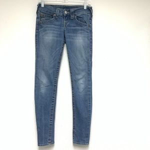 True Religion low rise skinny jeans